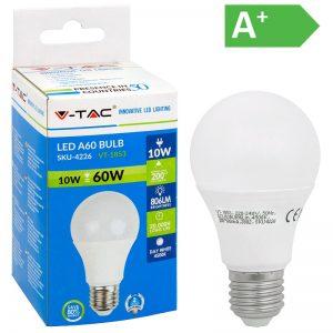 LED-POLTTIMO 10W E27 4500K 806LM A60 V-TAC