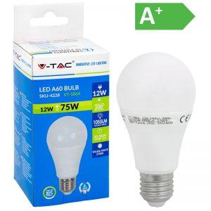 LED-POLTTIMO 12W E27 2700K 1055LM A60 V-TAC