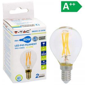 LED-POLTTIMO 4W E14 2700K 400LM P45 FILA V-TAC