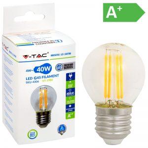 LED-POLTTIMO 4W E27 2700K 400LM G45 FILA V-TAC