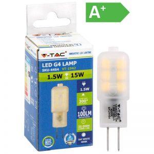 LED-POLTTIMO 1,5W G4 4000K 160LM T18 V-TAC