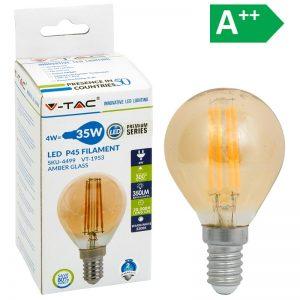 LED-POLTTIMO 4W E14 2200K 350LM P45 AMBE V-TAC