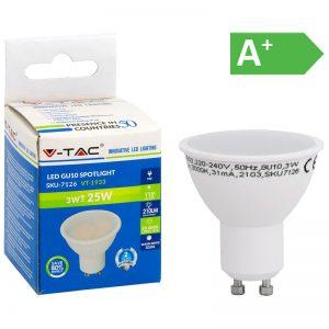 LED-POLTTIMO 3W GU10 3000K 210LM PAR16 V-TAC
