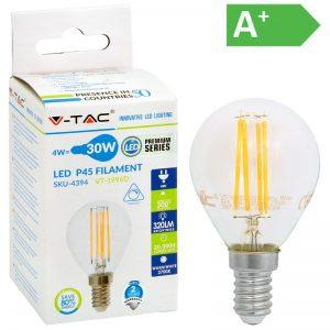 LED-POLTTIMO 4W E14 2700K 400LM P45 HIMM V-TAC