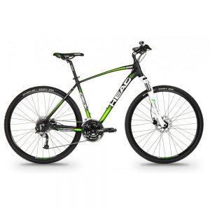 HEAD I-Peak II miesten cross polkupyörä, 59cm, mattamusta/vihreä
