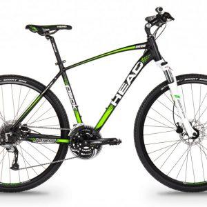 HEAD I-Peak II miesten cross polkupyörä, 55cm, mattamusta/vihreä